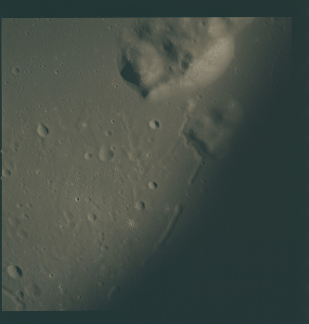 AS15-93-12720 - Apollo 15 - Apollo 15 Mission image - View of Mt. Harbinger (Montes Harbinger) Delta