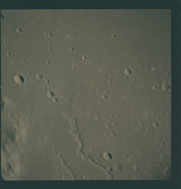 AS15-93-12722 - Apollo 15 - Apollo 15 Mission image - View of Mt. Harbinger (Montes Harbinger) Mu
