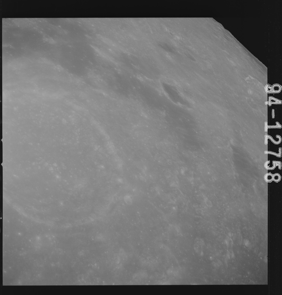 AS15-94-12758 - Apollo 15 - Apollo 15 Mission image - View of Craters Macrobius, and Macrobius W