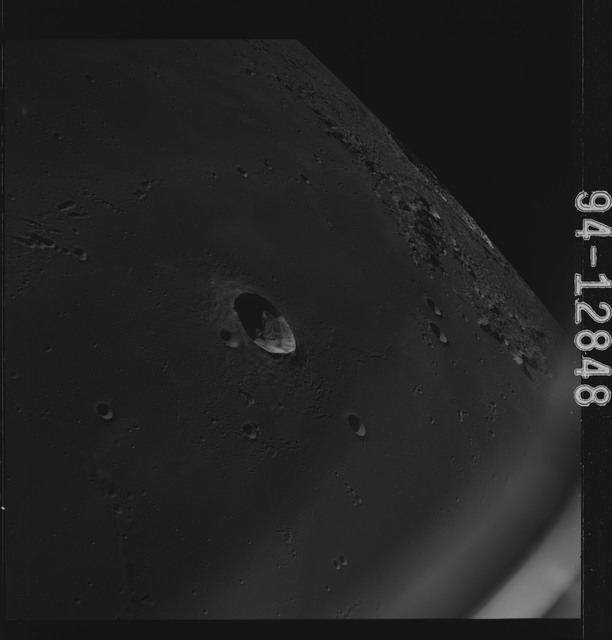 AS15-94-12848 - Apollo 15 - Apollo 15 Mission image - View of Craters Pytheas, Draper and Copernicus
