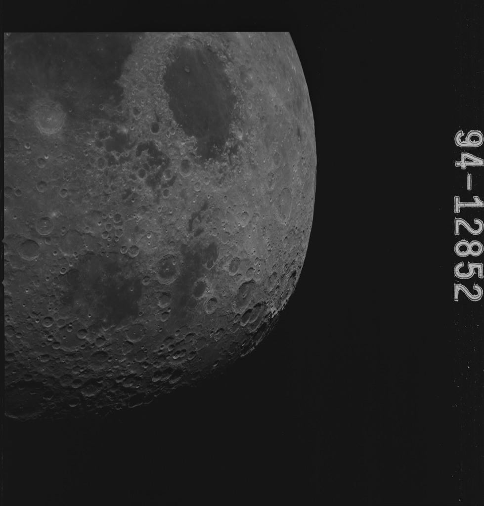 AS15-94-12852 - Apollo 15 - Apollo 15 Mission image - Smyth's Sea (Mare Smythii), Border Seas (Mare Marginis) and the Seas of Crisis (Mare Crisium) and Fertility (Mare Fecunditatis)