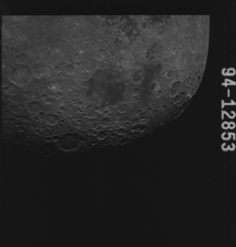 AS15-94-12853 - Apollo 15 - Apollo 15 Mission image - Smyth's Sea (Mare Smythii), and Border Seas (Mare Marginis)