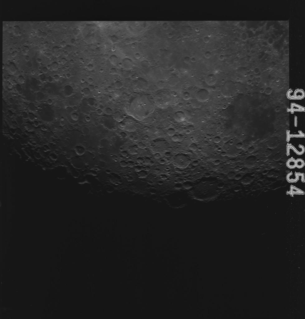 AS15-94-12854 - Apollo 15 - Apollo 15 Mission image - Crater Humboldt and Smyth's Sea (Mare Smythii) and Southern Sea (Mare Australe)
