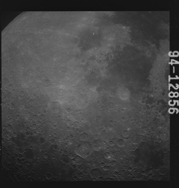 AS15-94-12856 - Apollo 15 - Apollo 15 Mission image - Southern Sea (Mare Australe) to the Sea of Tranquility (Mare Tranquillitatis)