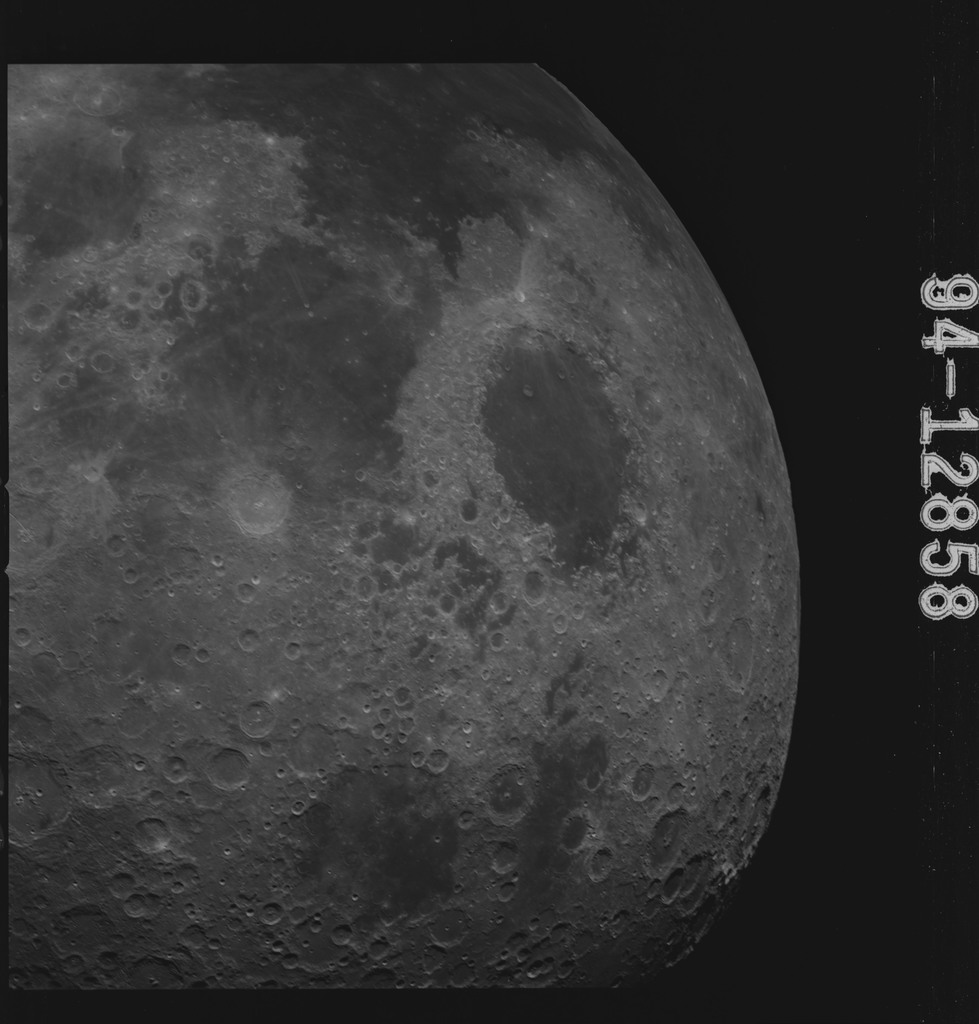 AS15-94-12858 - Apollo 15 - Apollo 15 Mission image - Smyth's Sea (Mare Smythii) to the Sea of Serenty (Mare Serenitatis)