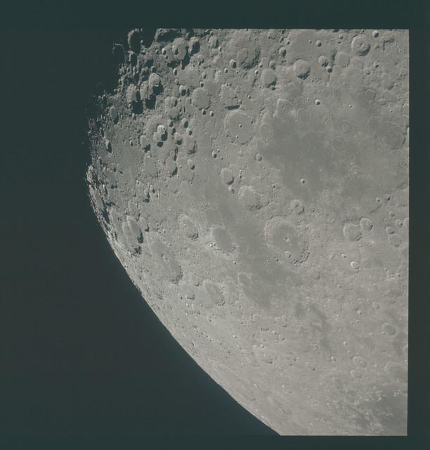 AS15-96-13094 - Apollo 15 - Apollo 15 Mission image - View of Smyth's Sea, Crater Neper and Border Sea