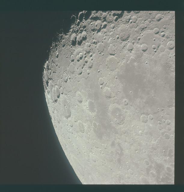 AS15-96-13097 - Apollo 15 - Apollo 15 Mission image - View of Smyth's Sea, Crater Neper and Border Sea