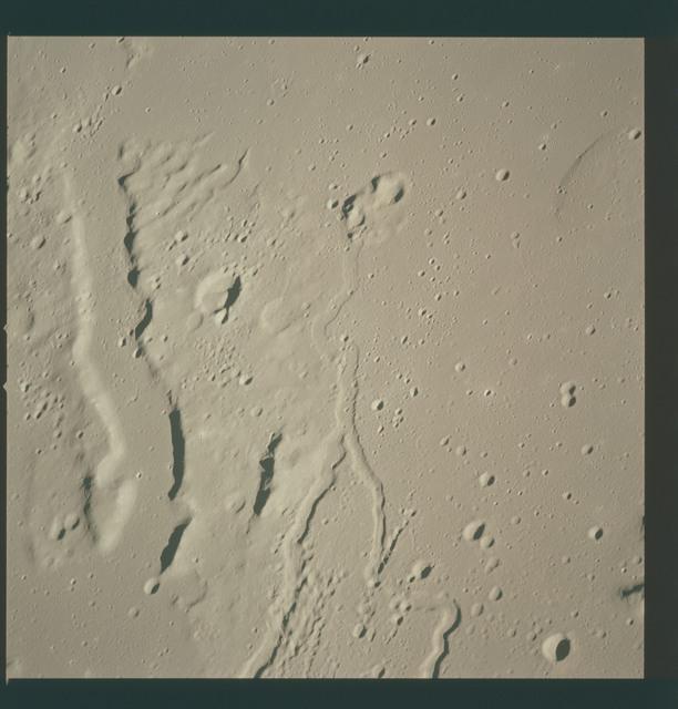 AS15-97-13247 - Apollo 15 - Apollo 15 Mission image - View of Aristarchus Rille VIII and Crater Wollaston W