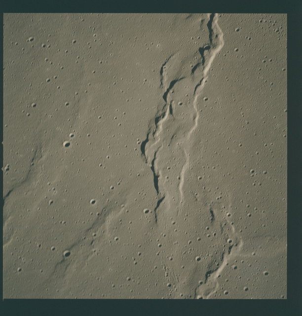 AS15-97-13264 - Apollo 15 - Apollo 15 Mission image - View of Ridges south of Crater Lichtenberg G