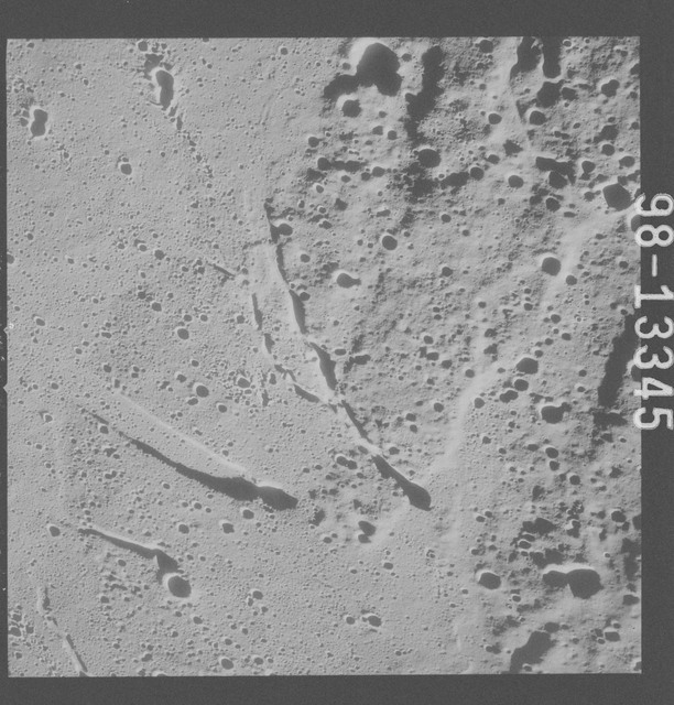 AS15-98-13345 - Apollo 15 - Apollo 15 Mission image - View of Terminator and west of Schroter's Valley