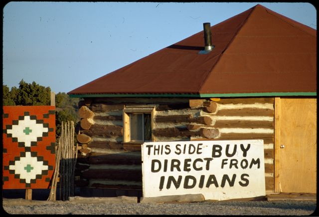 Indian-Owned Shop on One Side of Route 66 Challenges White-Owned Shop on the Other