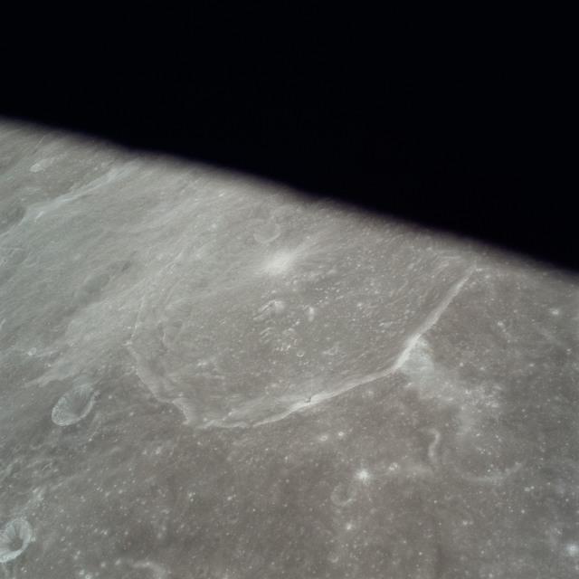 AS17-149-22782 - Apollo 17 - Apollo 17, Radar Antenna with moon in background