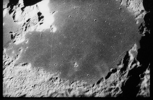 AS17-160-23990 - Apollo 17 - Apollo 17, Tsiolkovsky, South Wall, Waterman