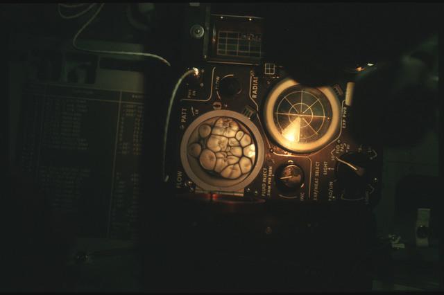 AS17-162-24059 - Apollo 17 - Apollo 17, Command Module Interior, Heat Flow Experiment Panel