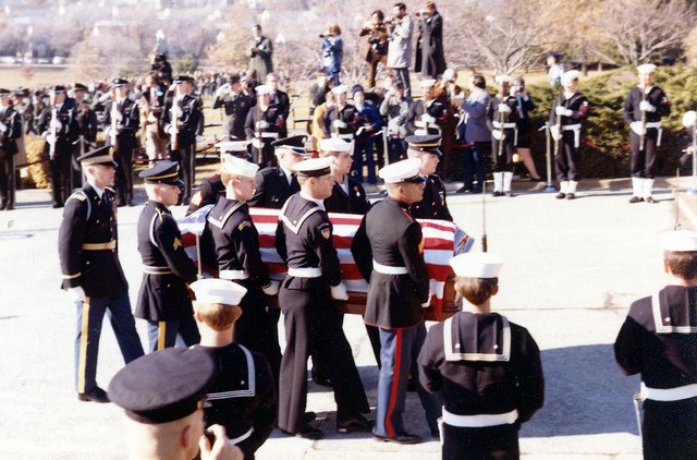 Honor Guard Carrying Harry S. Truman's Casket