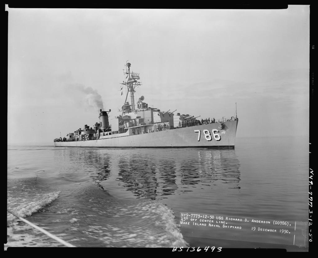 DD-786 R.B. Anderson