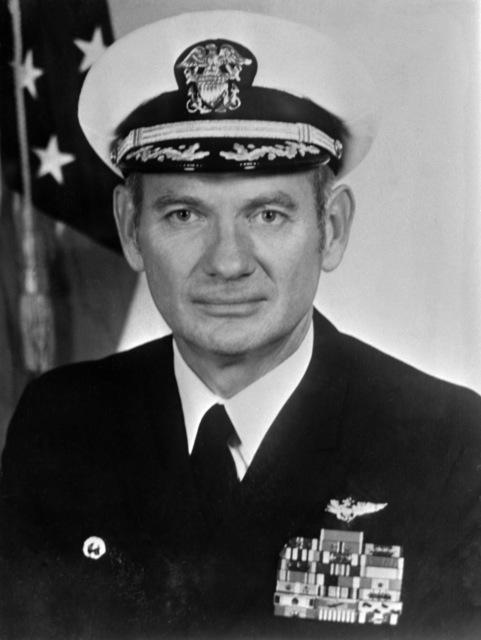 CAPT. Arthur E. Hill, USN (covered) CO, USS RANGER (CV-61), 1973-1974