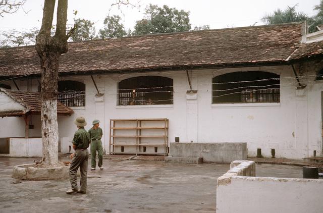 "Exterior view of the prisoner of war camp (""Hanoi Hilton"")"