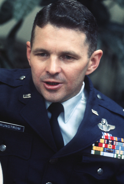 Former POW and U.S. Air Force LCOL Alan Leslie Brunstrom. LCOL Brunstrom was captured on 22 Apr 66 and released by the North Vietnamese in Hanoi on 12 Feb 73