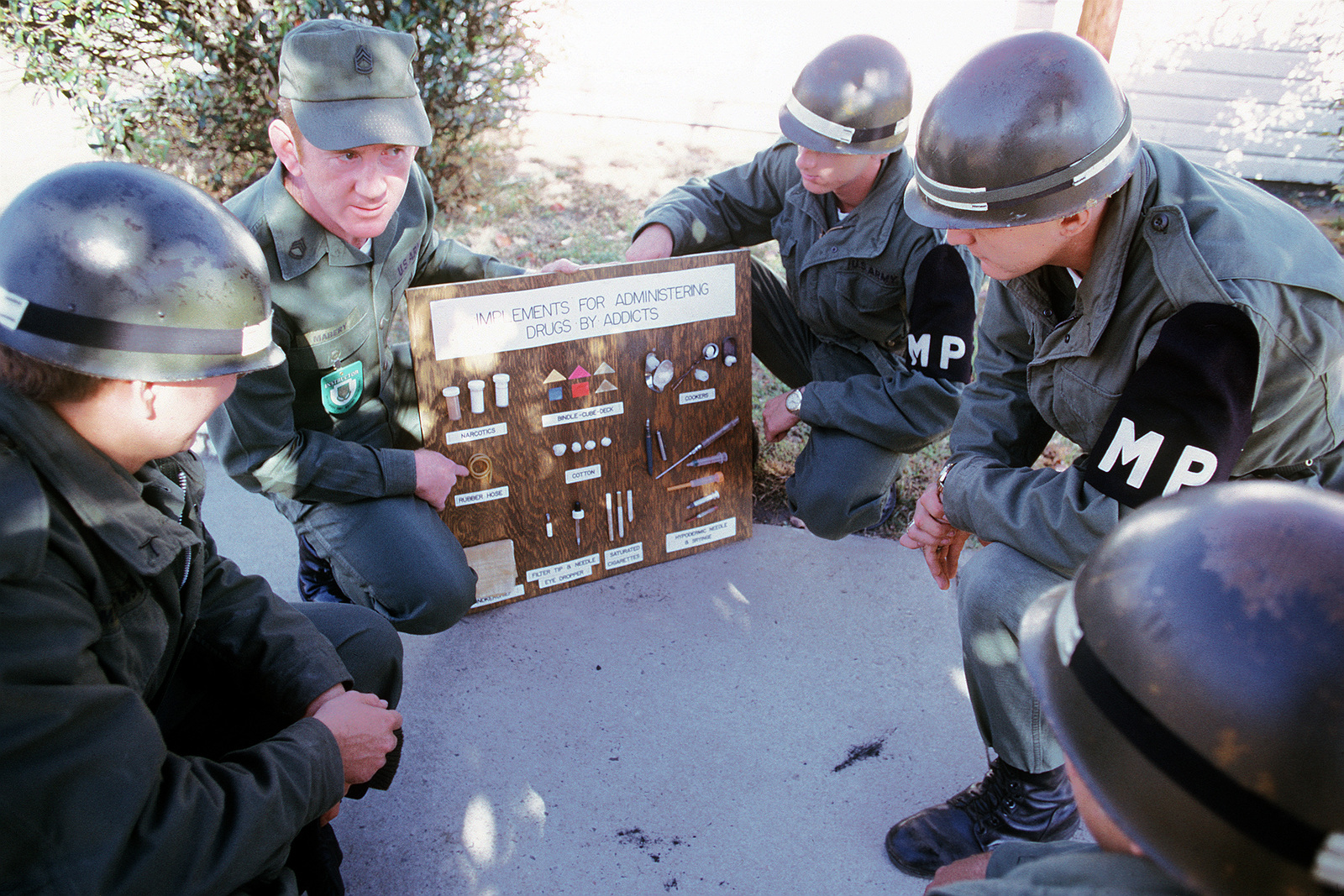 5cc46b7c60bcf Military policemen are taught to recognize drug paraphernalia at the U.S.  Army Military Police School.
