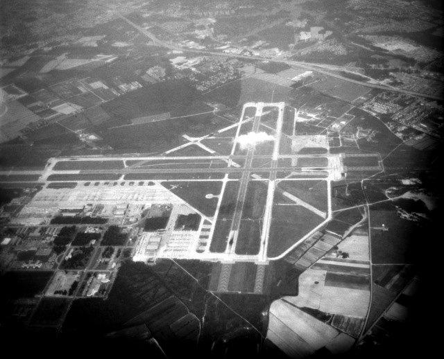 An aerial view of the Naval Air Station, Oceana. (SUBSTANDARD)