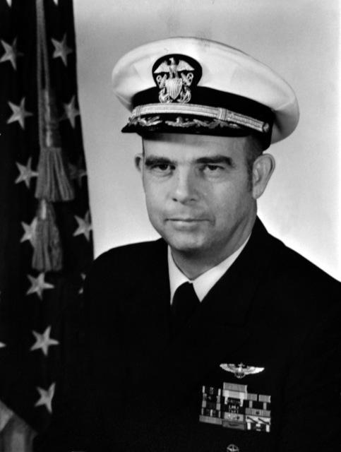 CAPT. John L. Nicholson Jr., USN (covered) CO, USS RANGER (CV-61), 1974-1976