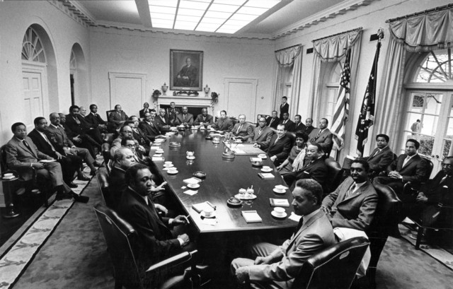 President Richard Nixon Meeting with Black Administration Appointees