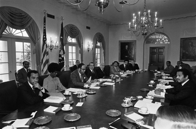 President Richard Nixon Meeting with Members of the Black Caucus