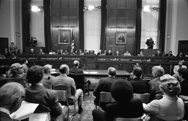 President Gerald R. Ford Appearing before the House Subcommittee on Criminal Justice to Give Testimony Regarding the Pardon of Richard Nixon
