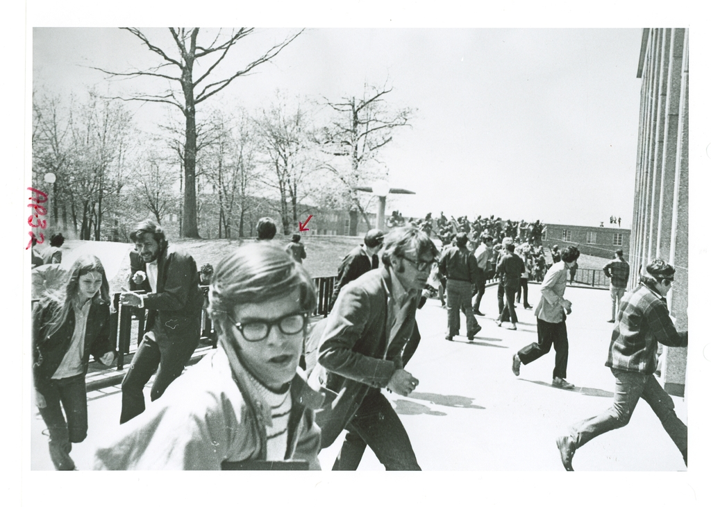 Photograph of Campus Scene during Shootings at  Kent State University