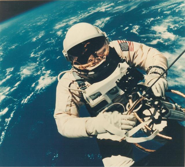 Photograph 1 of Astronaut Edward H. White II's Space Walk on Gemini IV