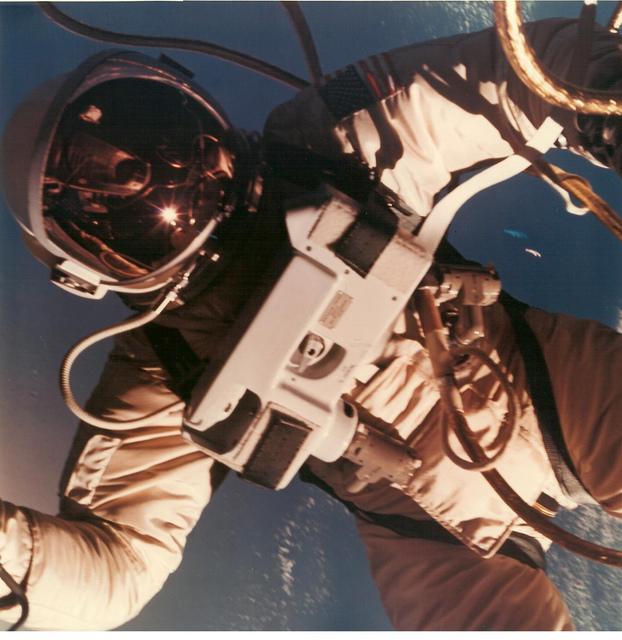 Photograph 3 of Astronaut Edward H. White II's Space Walk on Gemini IV