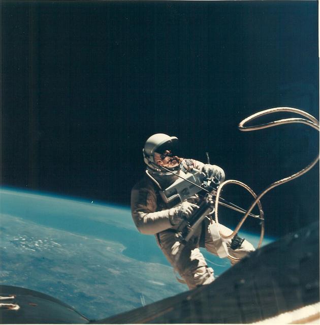 Photograph 4 of Astronaut Edward H. White II's Space Walk on Gemini IV