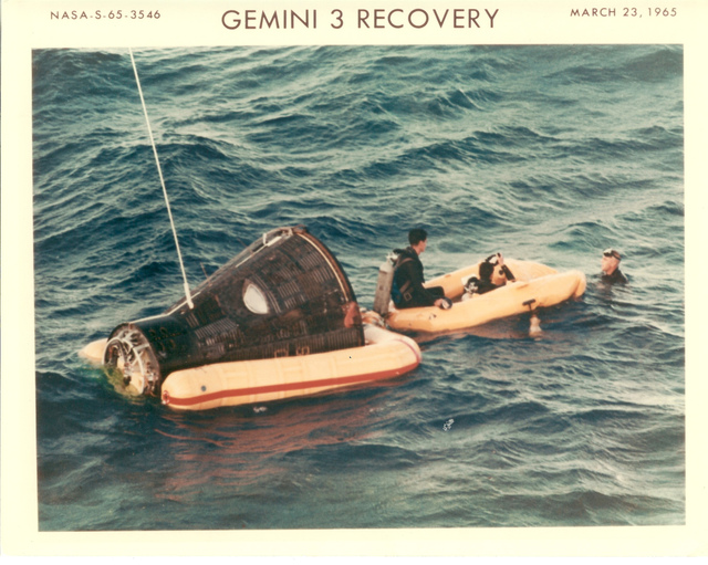 Photograph of Gemini 3 Recovery