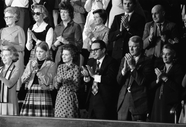 First Lady Betty Ford and Others Applauding From the Gallery during the 1975 State of the Union Address