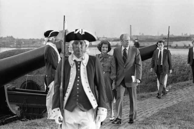 President Gerald R. Ford and First Lady Betty Ford at the Fifth Annual Our Country Celebration at Fort McHenry, Baltimore, Maryland