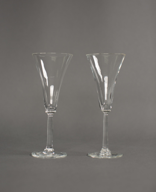 Wine Glasses Used by President Gerald Ford and Soviet General Secretary Leonid Brezhnev of the Soviet Union, at Their Meeting in Helsinki, Finland