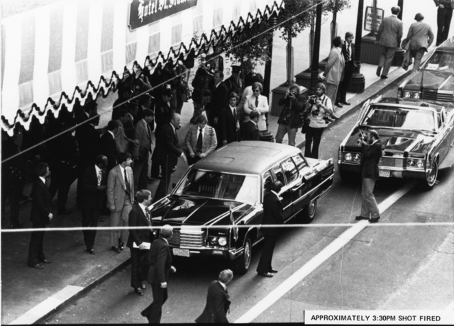 Photograph of Scene outside the St. Francis Hotel at about the Exact Time Sara Jane Moore Attempted to Assassinate President Gerald R. Ford