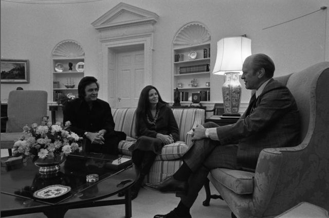 Country and Western Singers Johnny Cash and June Carter Cash Visit President Gerald R. Ford at the White House
