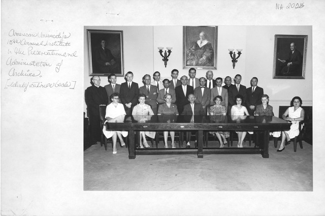 Photograph of American University's 15th Annual Institute in the Preservation and Administration of Archives
