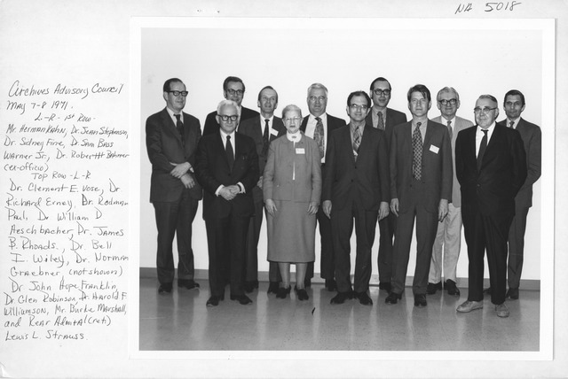 Photograph of Archives Advisory Council