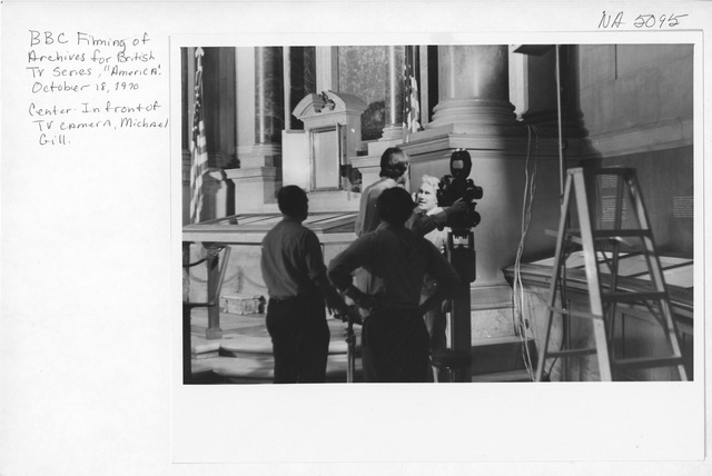 Photograph of BBC (British Broadcasting Coorporation) Filming for the Series, America