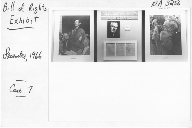 Photograph of Bill of Rights Exhibit at International Council on Archives