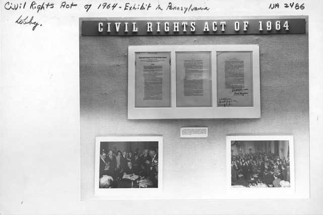 Photograph of Civil Rights Act of 1964 Exhibit in Pennsylvania Ave. Lobby