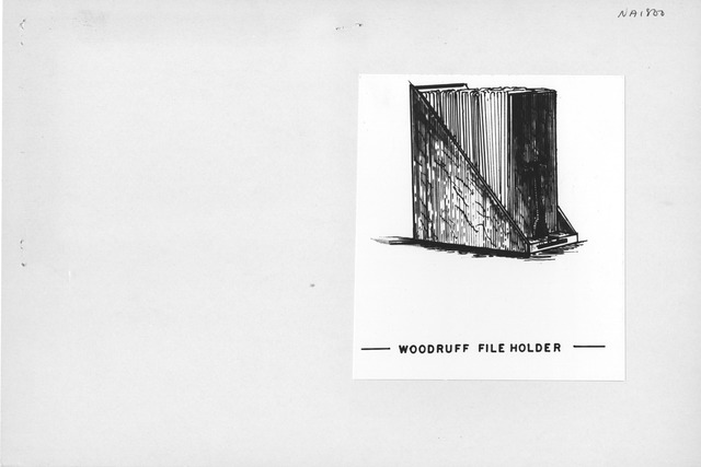 Photograph of Drawing of Woodruff File Holder