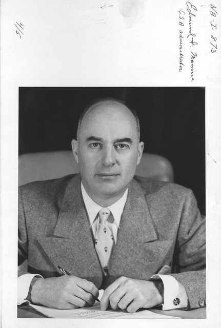 Photograph of Edmund F. Mansure, General Services Administration (GSA) Administrator