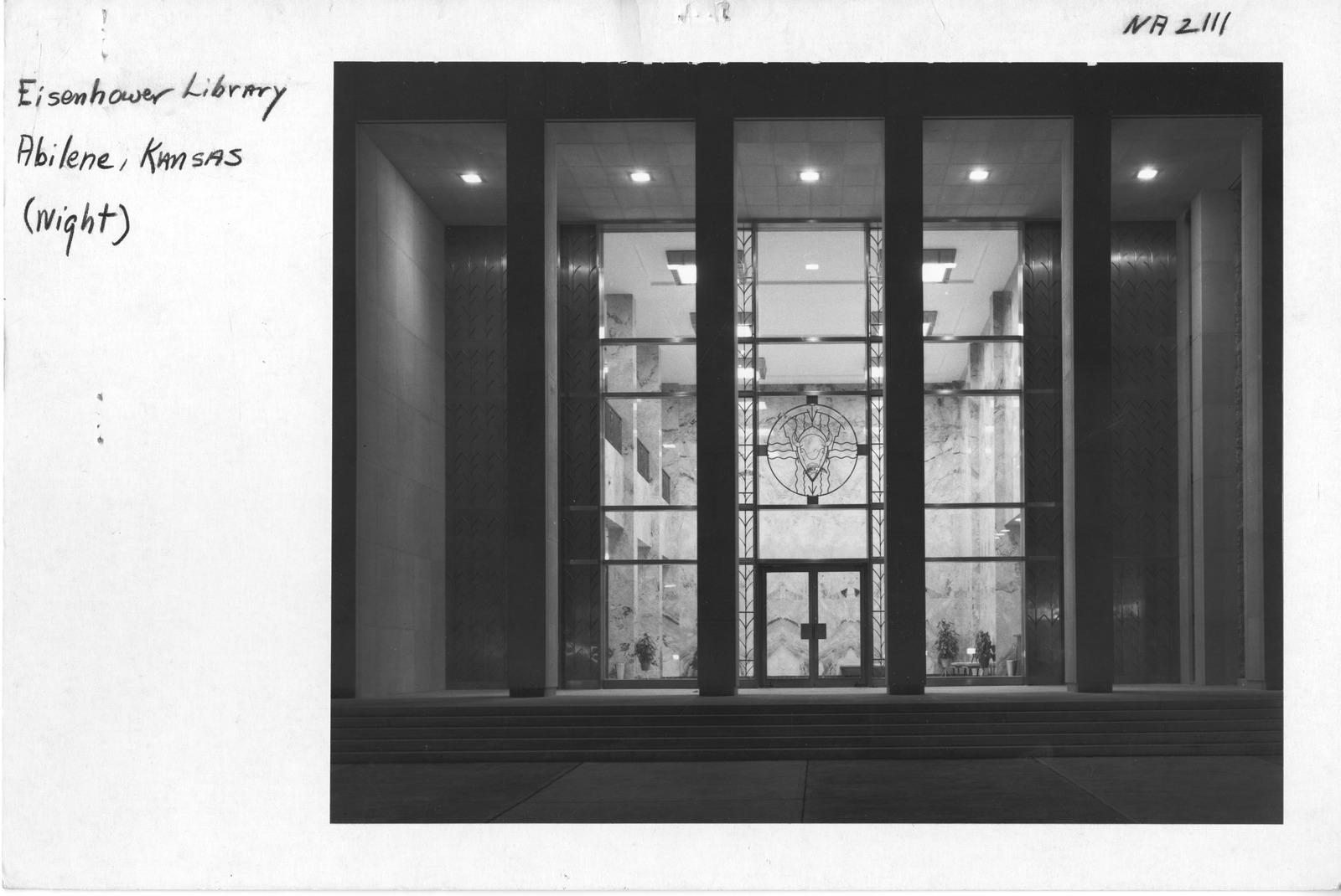 Photograph of Eisenhower Library Abilene, Kansas (Night)