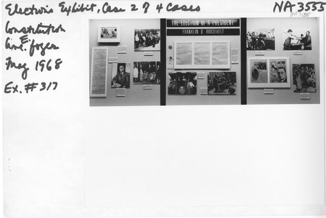 Photograph of Elections Exhibit (Franklin Delano Roosevelt)