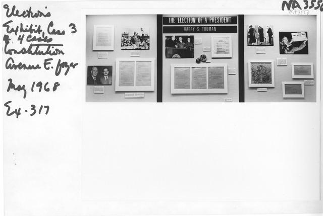 Photograph of Elections Exhibit (Harry S. Truman)