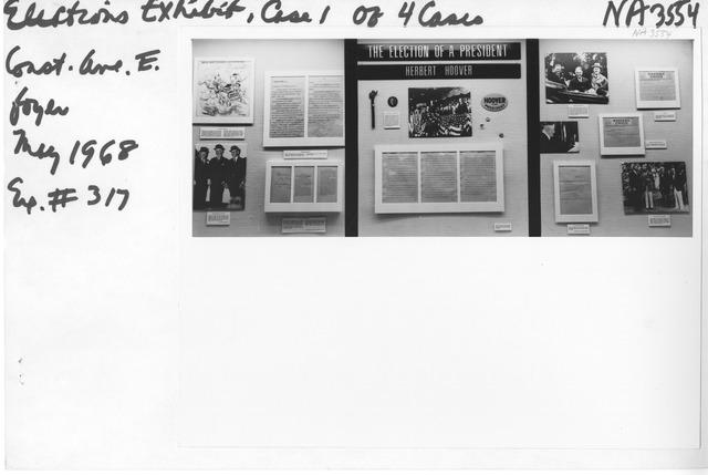 Photograph of Elections Exhibit (Herbert Hoover)